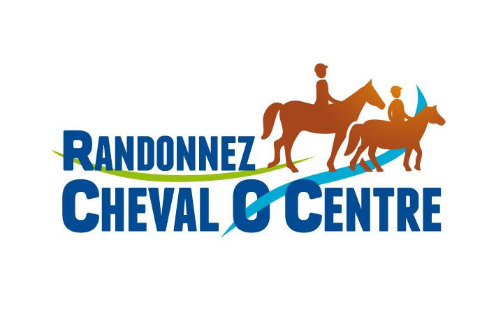"""conception logo """"Randonnez Cheval Ô Centre"""