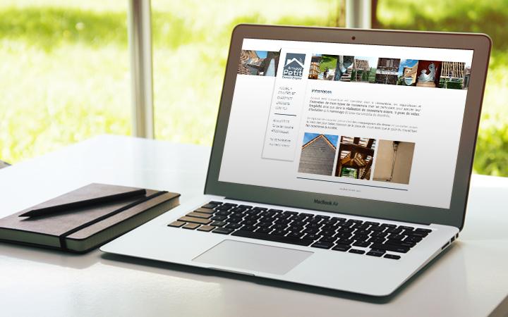 Site internet Arnaud Petit Couverture
