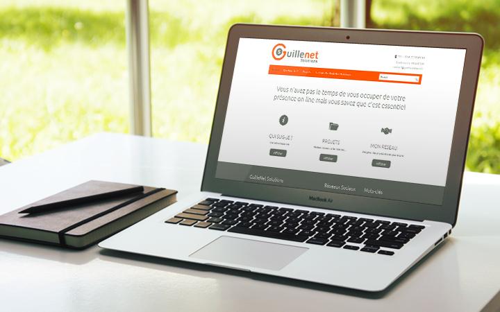 Création du site internet guillenetsolutions.fr